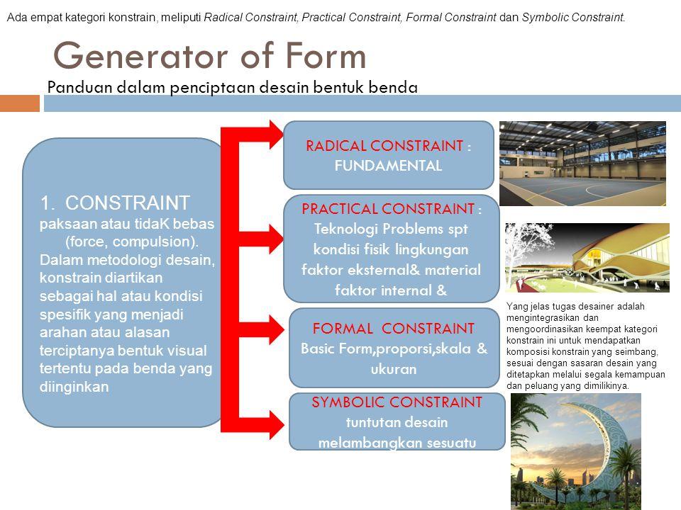 Generator of Form Panduan dalam penciptaan desain bentuk benda