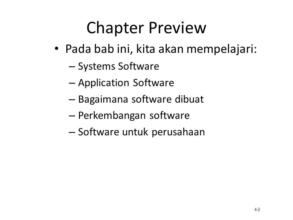 Chapter Preview Pada bab ini, kita akan mempelajari: Systems Software