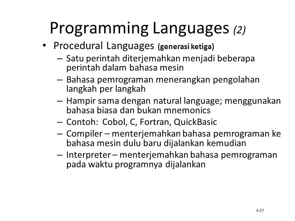 Programming Languages (2)