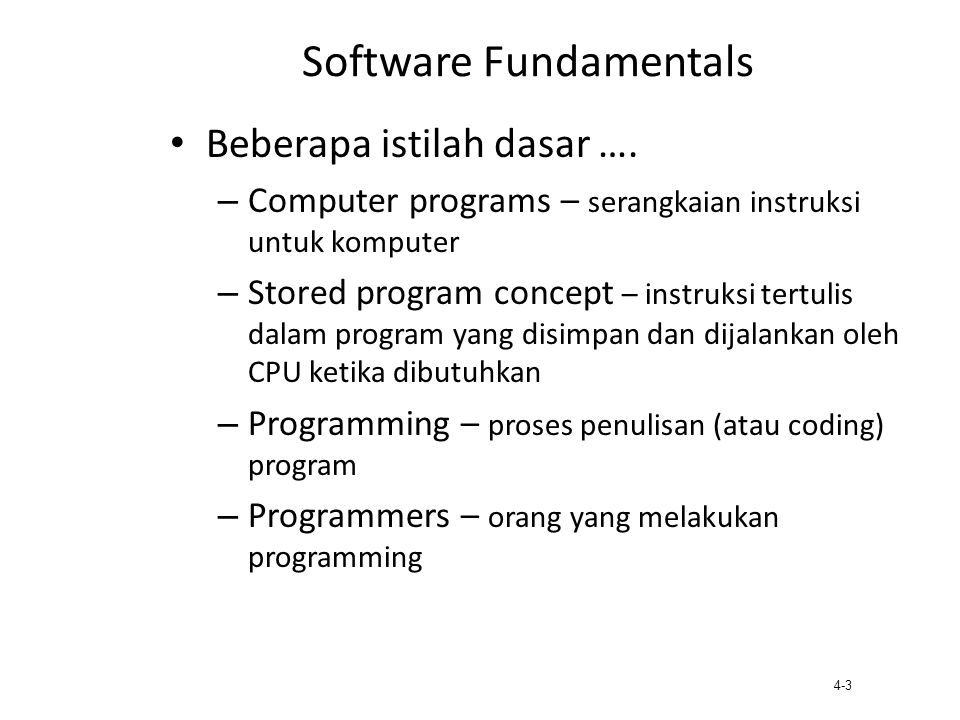 Software Fundamentals