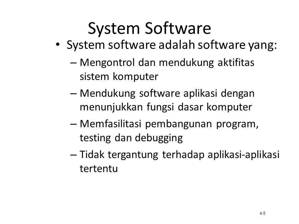 System Software System software adalah software yang: