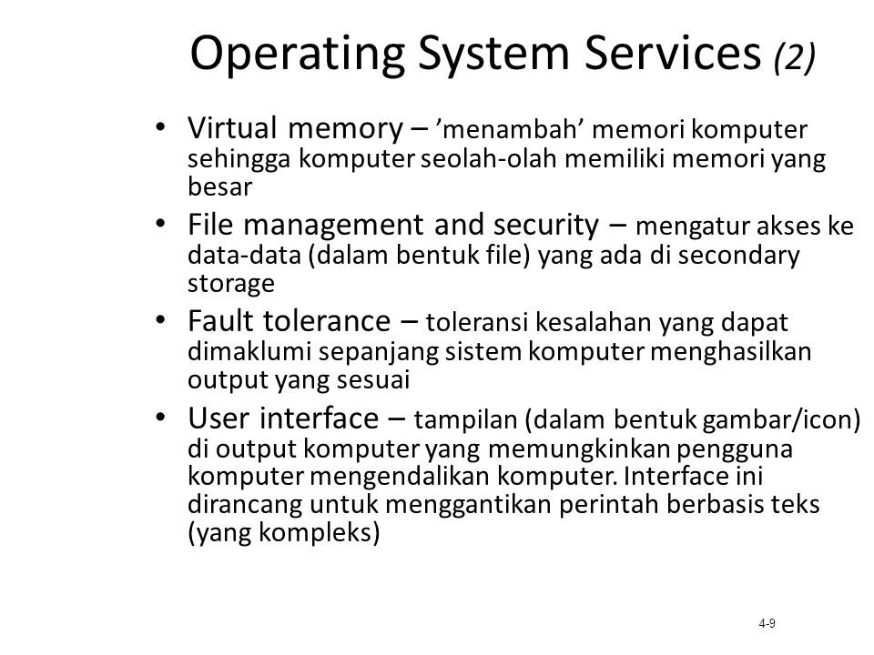 Operating System Services (2)