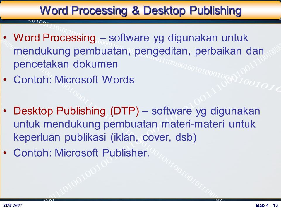 Word Processing & Desktop Publishing