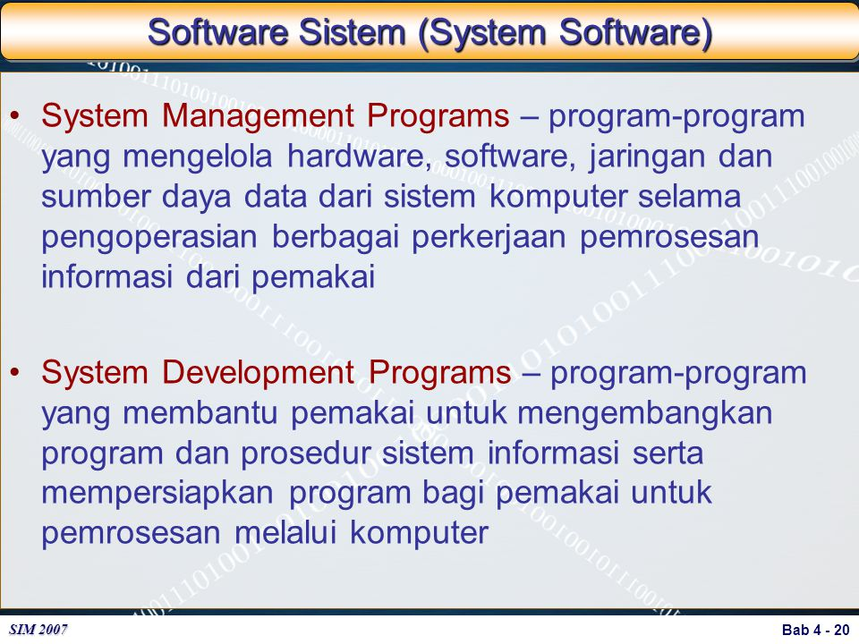 Software Sistem (System Software)