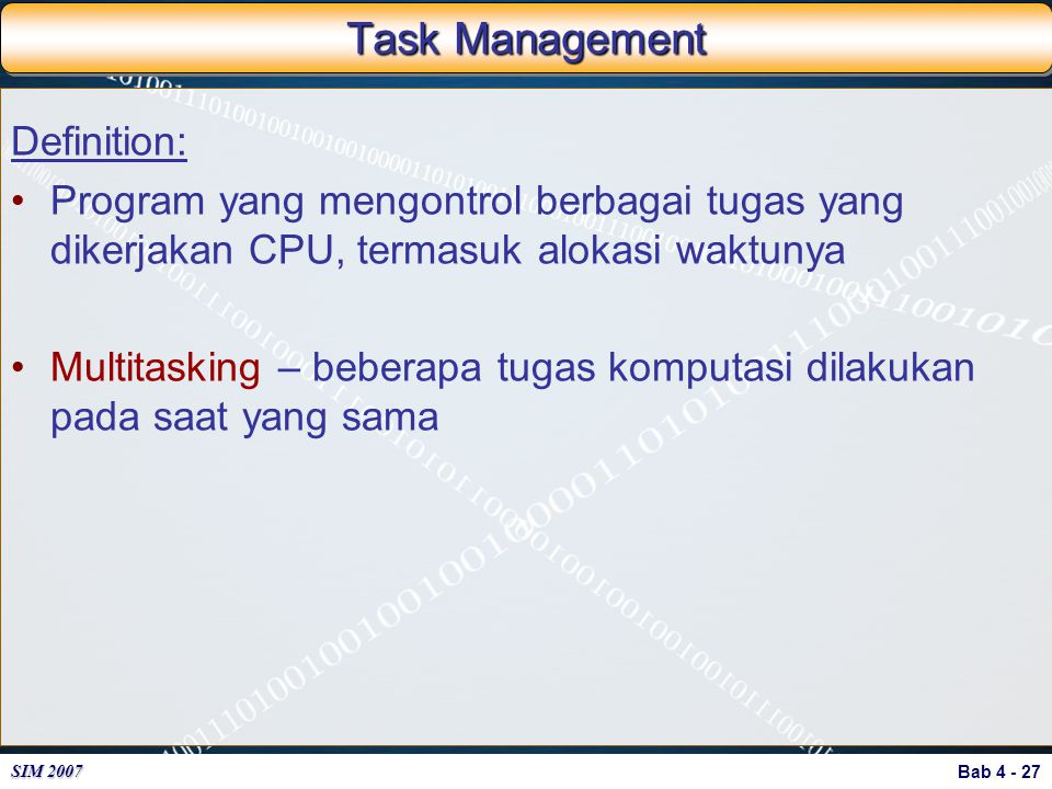 Task Management Definition: