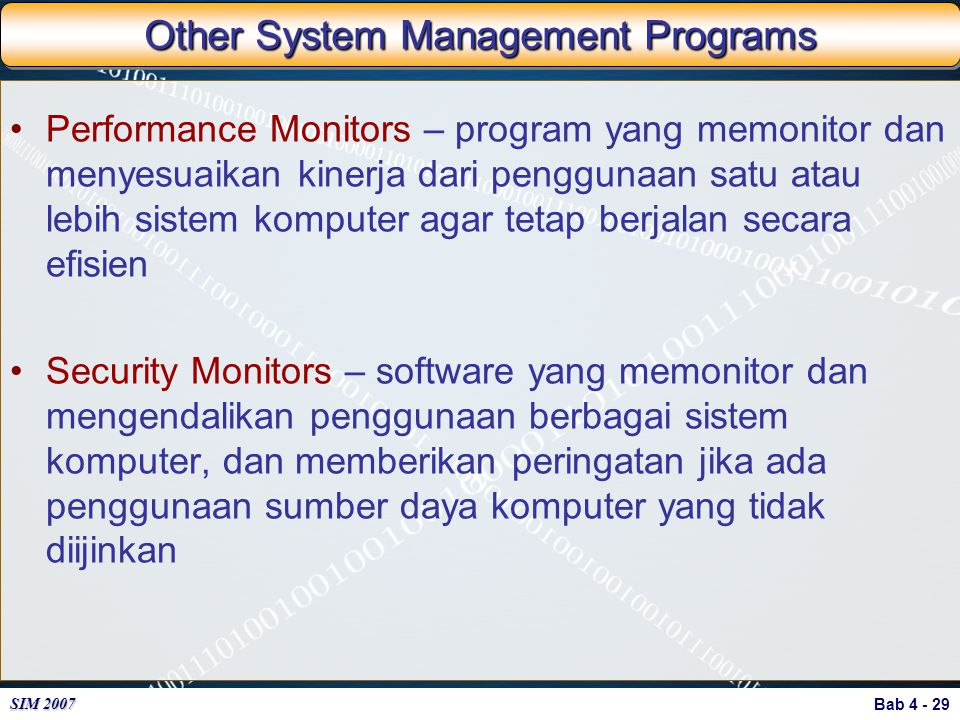 Other System Management Programs