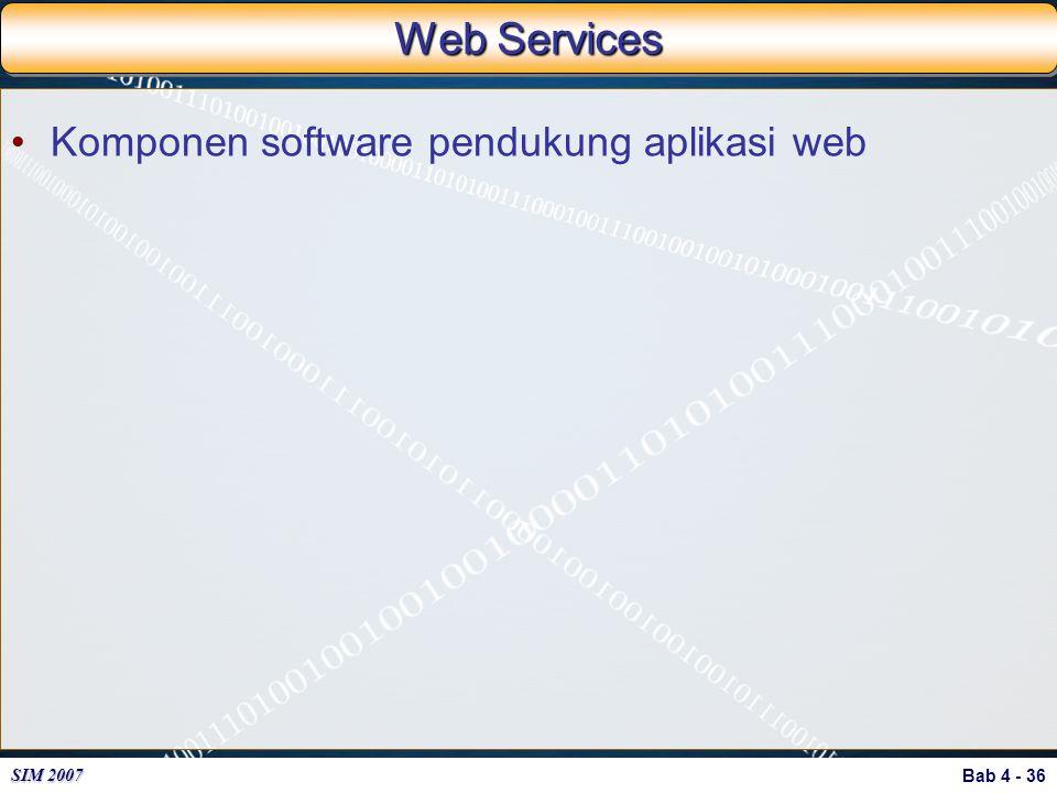Web Services Komponen software pendukung aplikasi web