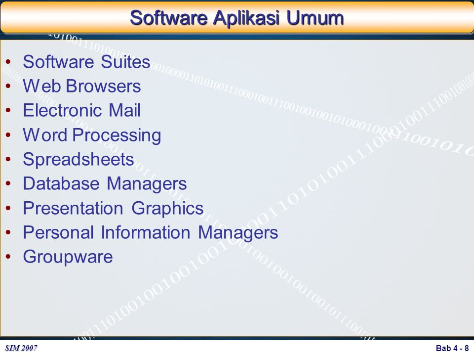 Software Aplikasi Umum