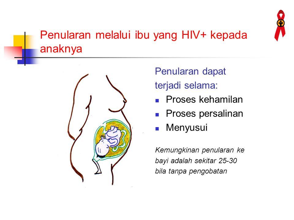Penularan melalui ibu yang HIV+ kepada anaknya