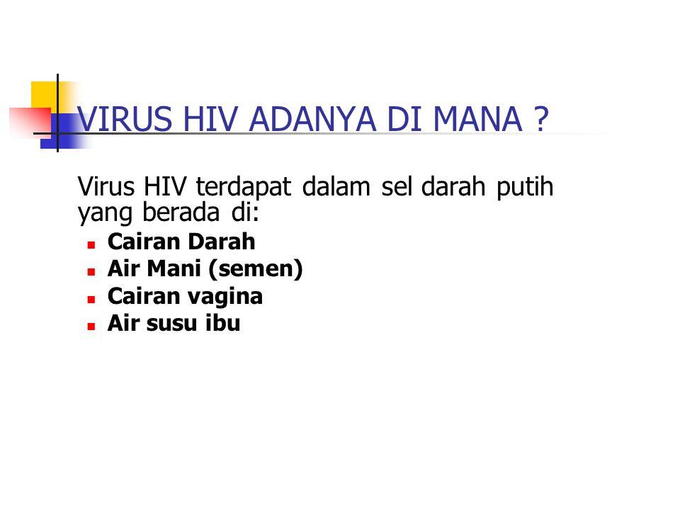 VIRUS HIV ADANYA DI MANA