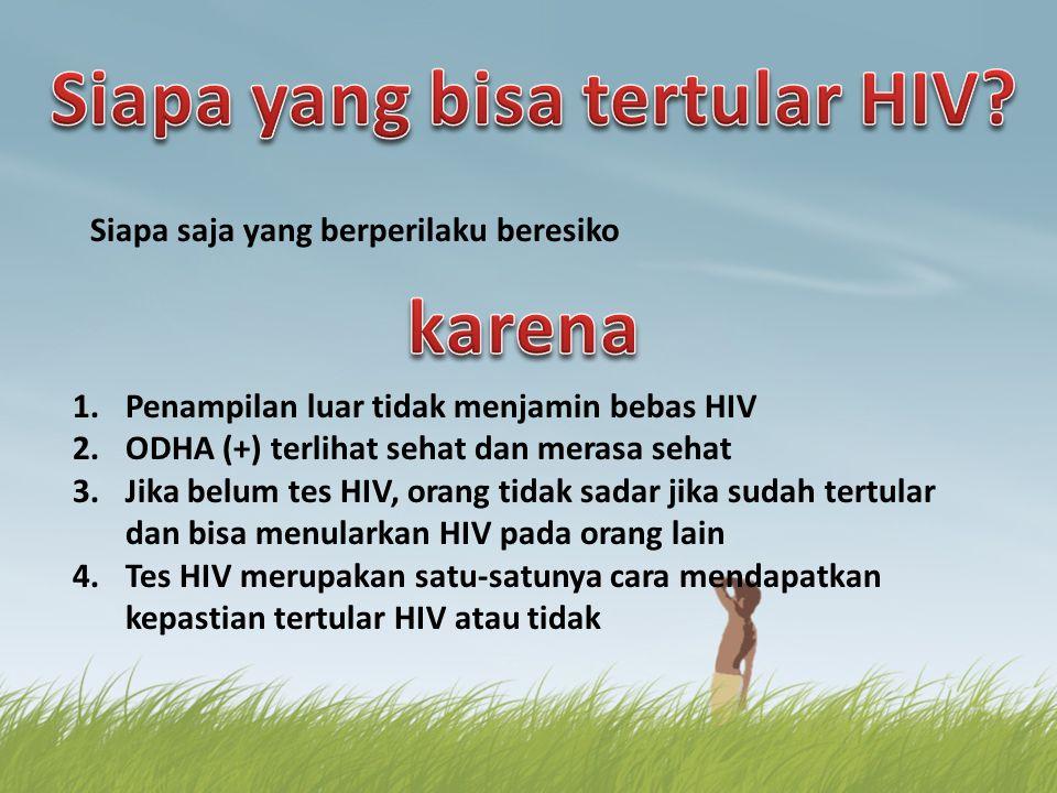 Siapa yang bisa tertular HIV