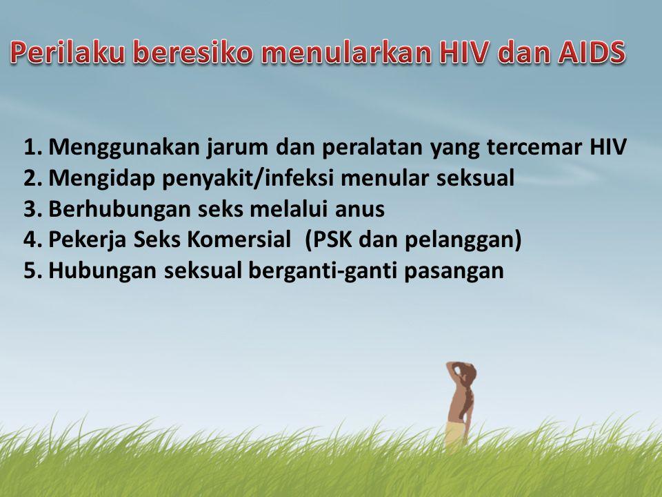 Perilaku beresiko menularkan HIV dan AIDS