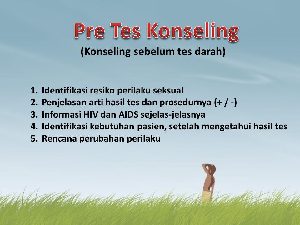 Pre Tes Konseling (Konseling sebelum tes darah)