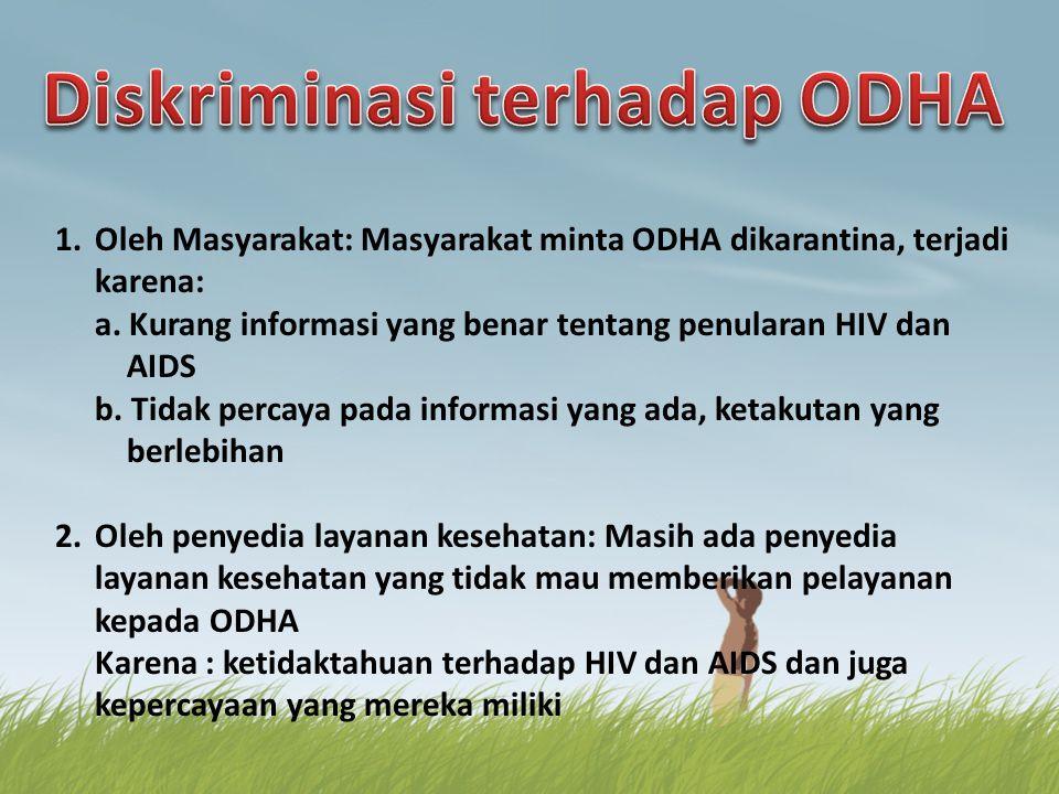 Diskriminasi terhadap ODHA