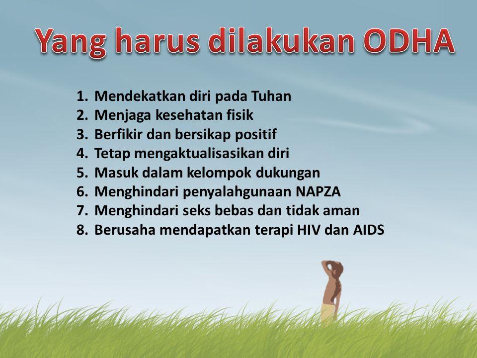 Yang harus dilakukan ODHA