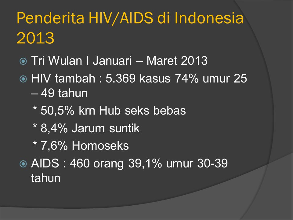 Penderita HIV/AIDS di Indonesia 2013