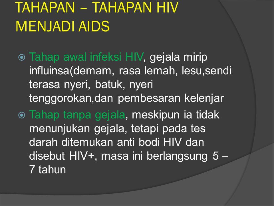 TAHAPAN – TAHAPAN HIV MENJADI AIDS
