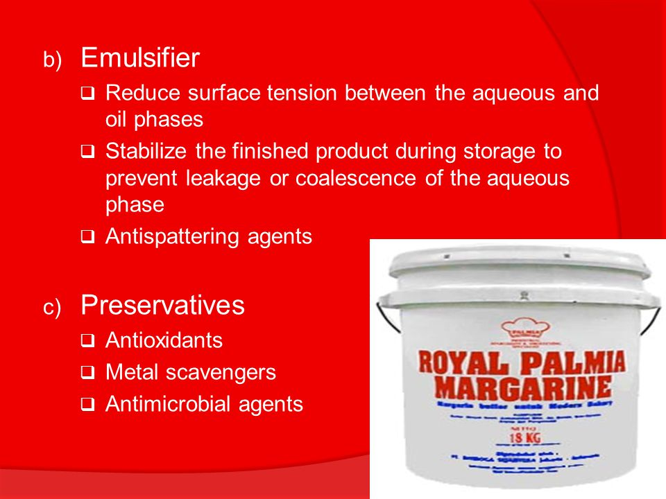Emulsifier Preservatives