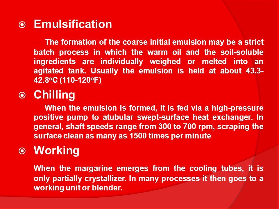 Emulsification