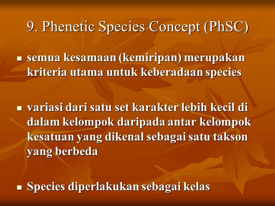 9. Phenetic Species Concept (PhSC)