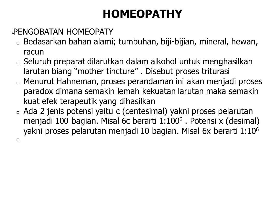 HOMEOPATHY PENGOBATAN HOMEOPATY