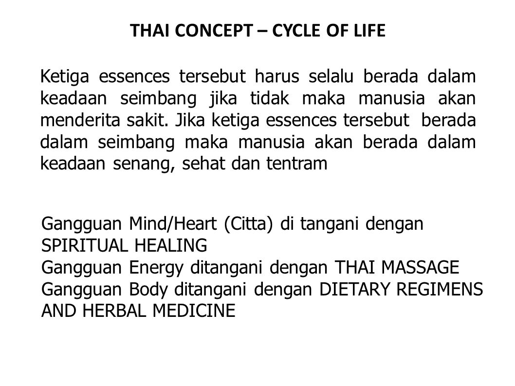 THAI CONCEPT – CYCLE OF LIFE