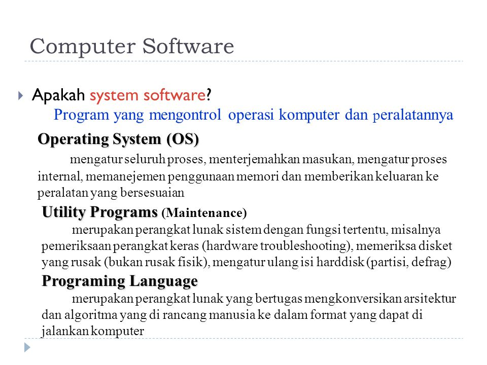 Computer Software Apakah system software