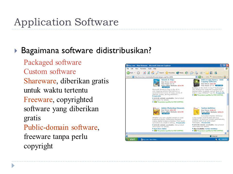 Application Software Bagaimana software didistribusikan