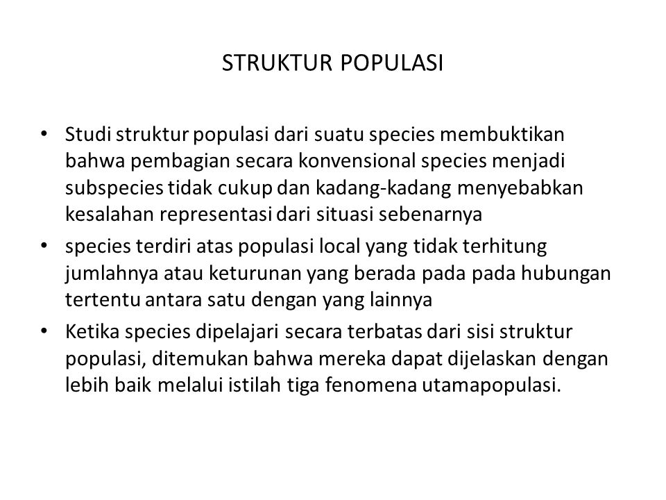 STRUKTUR POPULASI