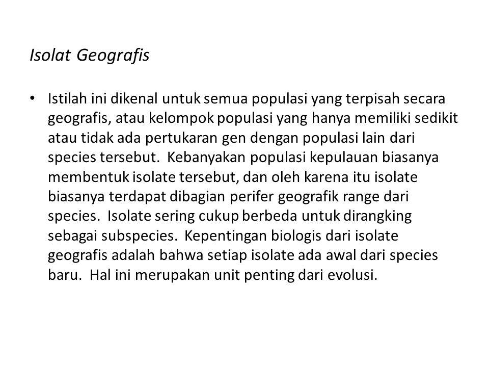 Isolat Geografis