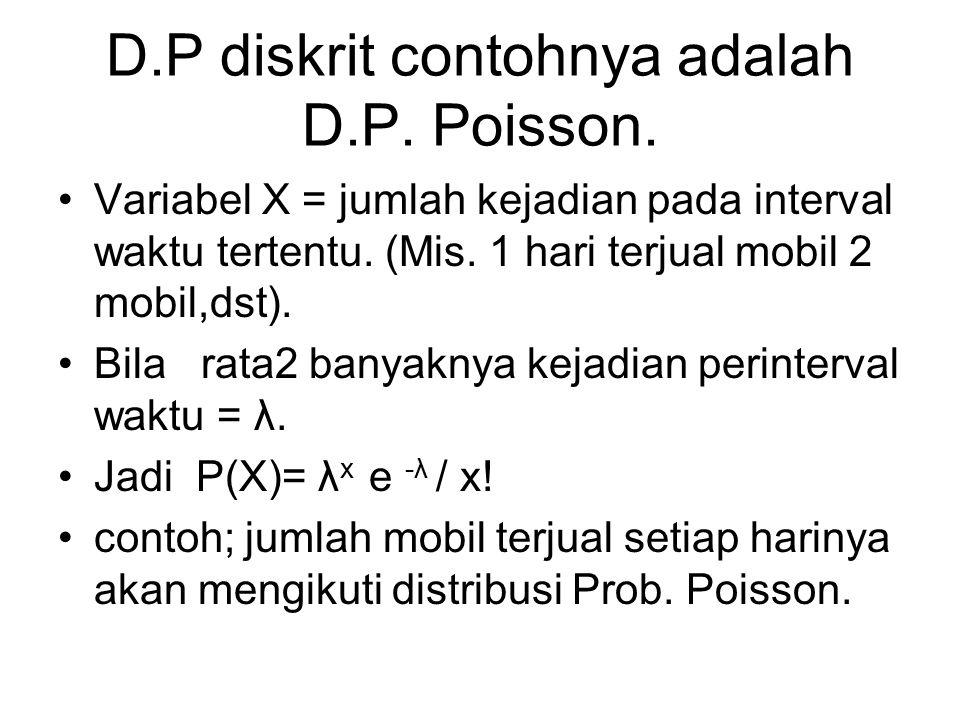 D.P diskrit contohnya adalah D.P. Poisson.