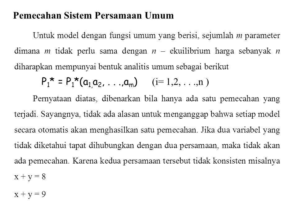 Pemecahan Sistem Persamaan Umum