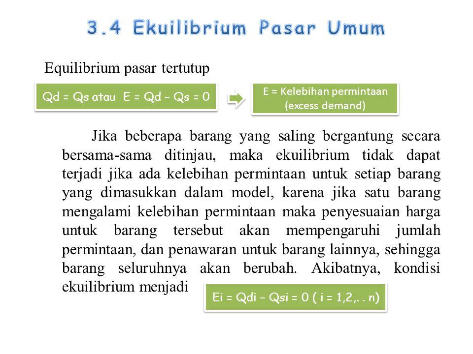 3.4 Ekuilibrium Pasar Umum