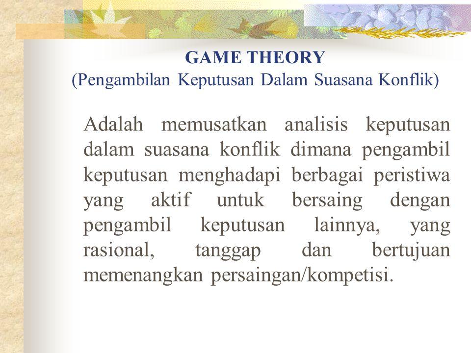GAME THEORY (Pengambilan Keputusan Dalam Suasana Konflik)