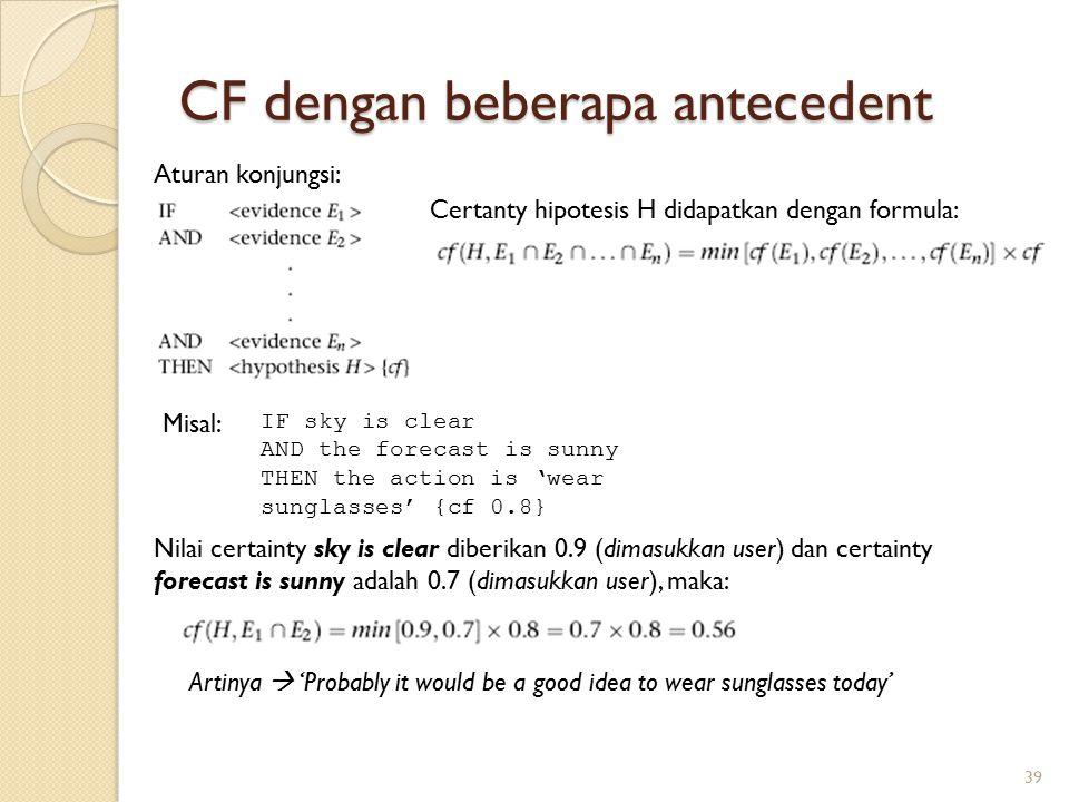 CF dengan beberapa antecedent