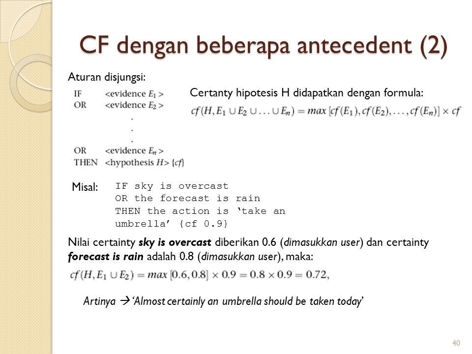 CF dengan beberapa antecedent (2)