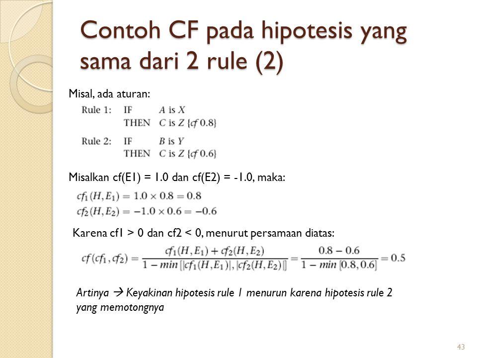 Contoh CF pada hipotesis yang sama dari 2 rule (2)