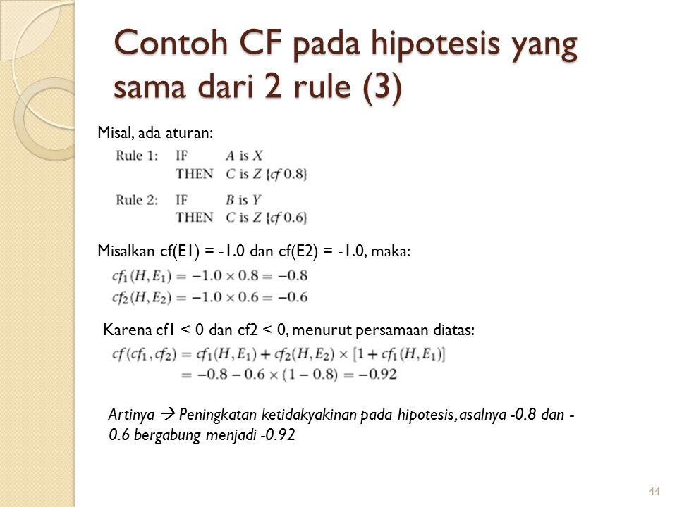 Contoh CF pada hipotesis yang sama dari 2 rule (3)