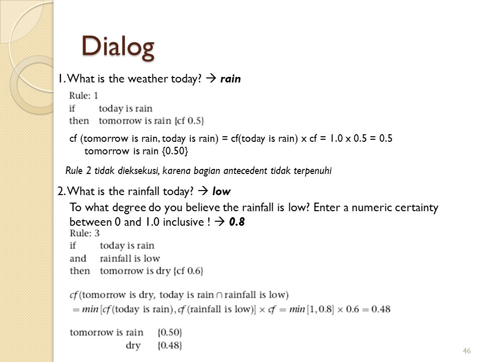Dialog 1. What is the weather today  rain