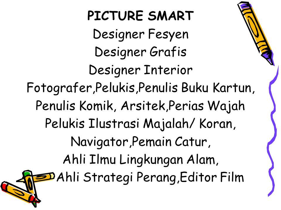 Fotografer,Pelukis,Penulis Buku Kartun,