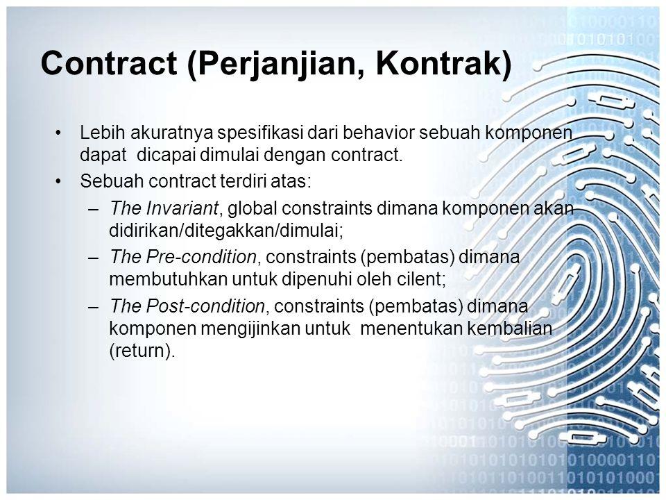 Contract (Perjanjian, Kontrak)