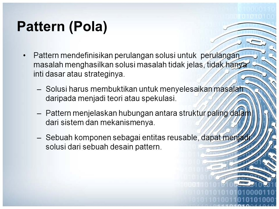 Pattern (Pola)