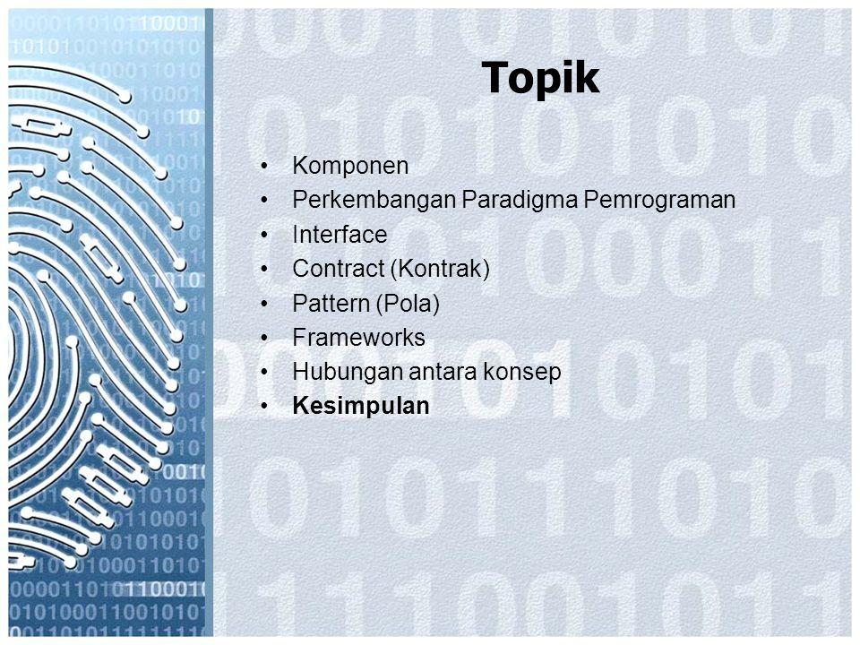 Topik Komponen Perkembangan Paradigma Pemrograman Interface