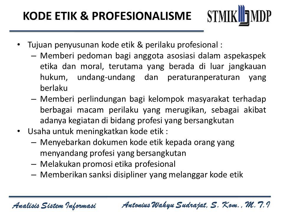 KODE ETIK & PROFESIONALISME