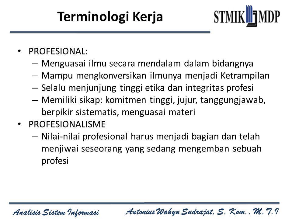 Terminologi Kerja PROFESIONAL: