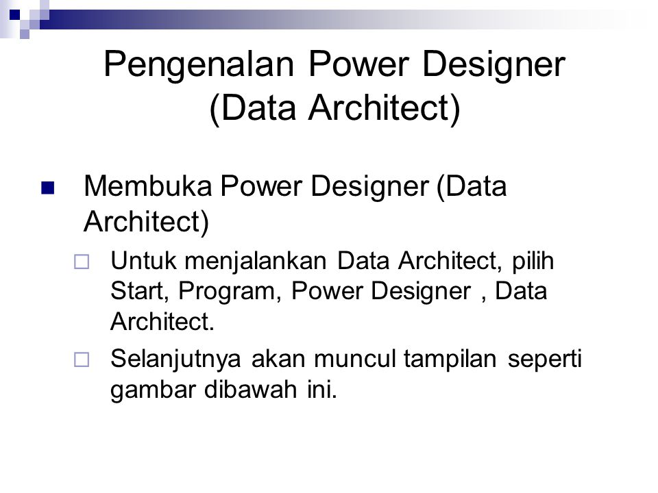 Pengenalan Power Designer (Data Architect)
