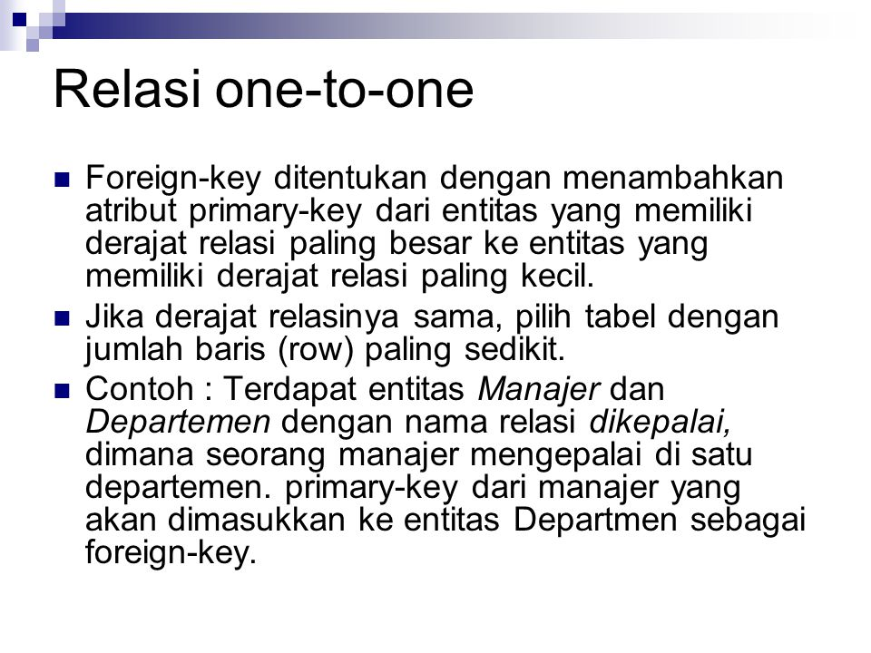 Relasi one-to-one
