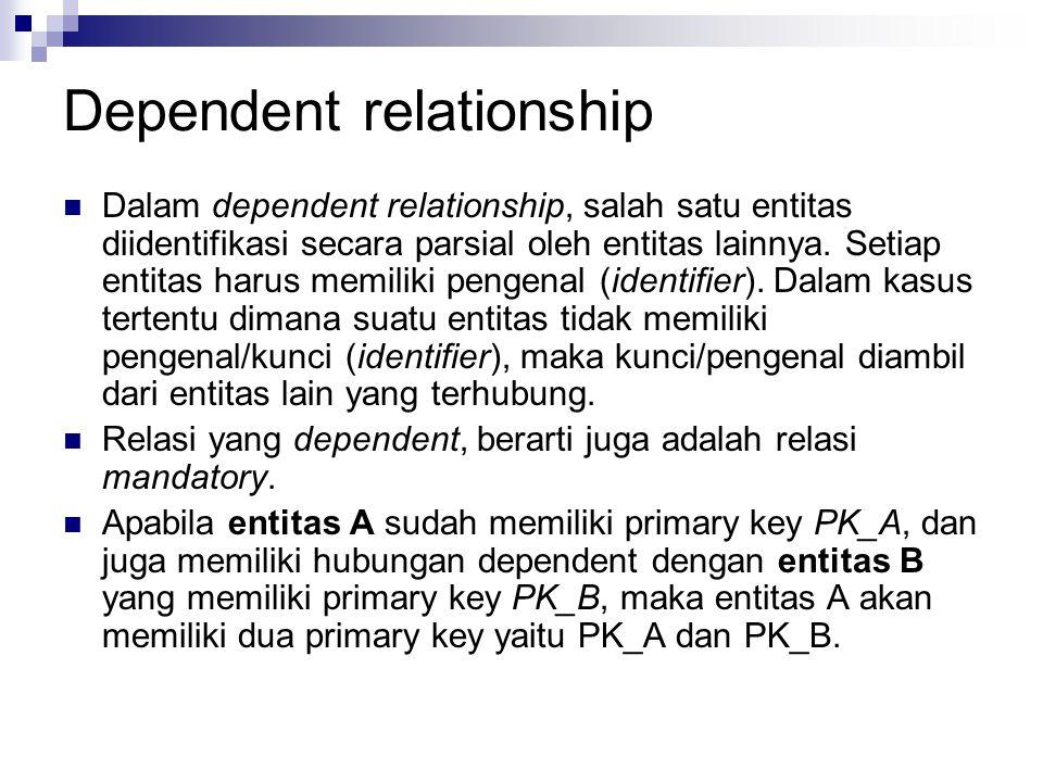Dependent relationship