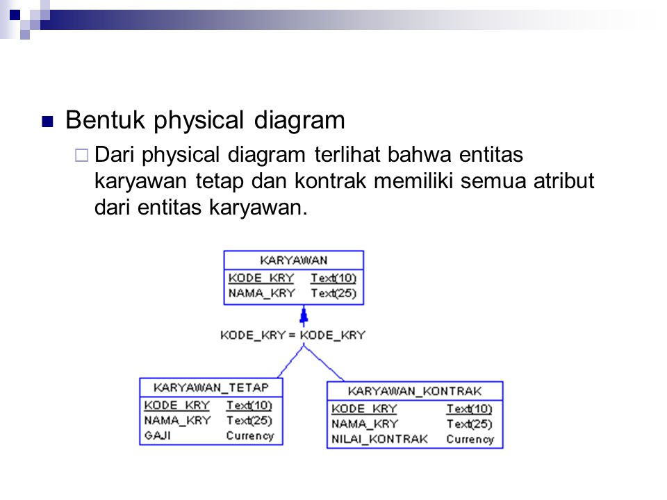 Bentuk physical diagram