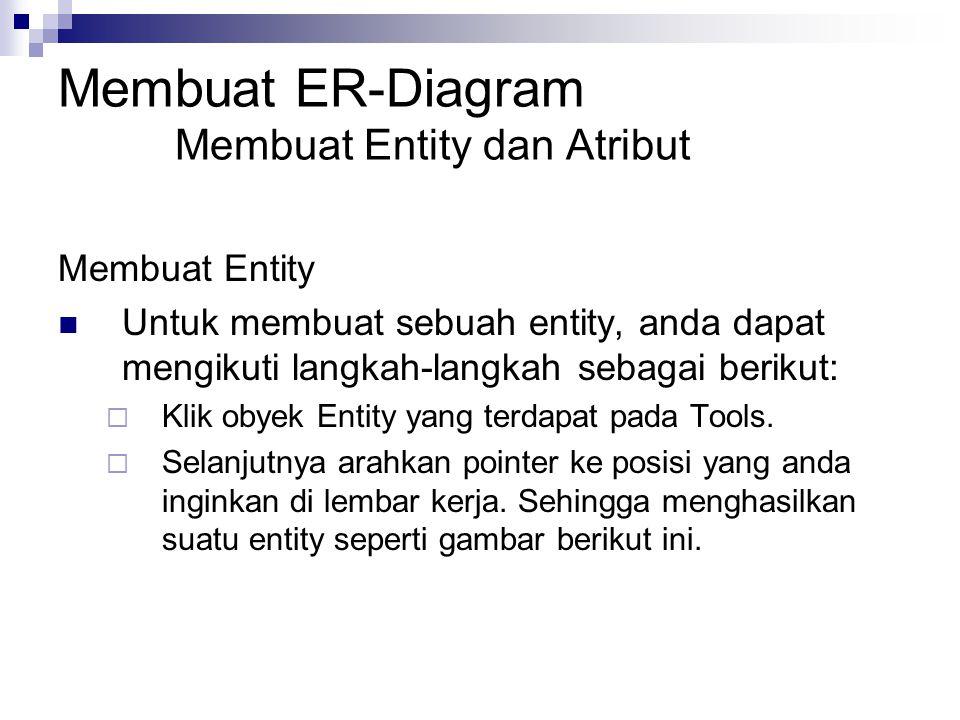 Membuat ER-Diagram Membuat Entity dan Atribut